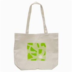 Green Abstract Design Tote Bag (cream) by Valentinaart