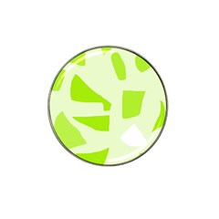 Green Abstract Design Hat Clip Ball Marker (4 Pack) by Valentinaart