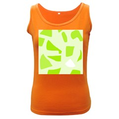 Green Abstract Design Women s Dark Tank Top by Valentinaart
