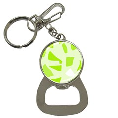 Green Abstract Design Bottle Opener Key Chains by Valentinaart