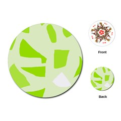 Green Abstract Design Playing Cards (round)  by Valentinaart
