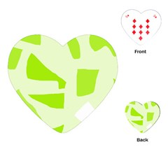 Green Abstract Design Playing Cards (heart)  by Valentinaart