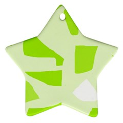 Green Abstract Design Star Ornament (two Sides)  by Valentinaart
