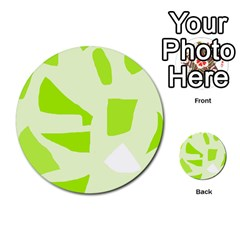 Green Abstract Design Multi Purpose Cards (round)  by Valentinaart
