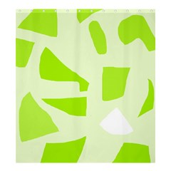 Green Abstract Design Shower Curtain 66  X 72  (large)  by Valentinaart