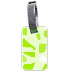 Green Abstract Design Luggage Tags (two Sides) by Valentinaart