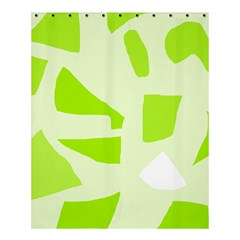 Green Abstract Design Shower Curtain 60  X 72  (medium)  by Valentinaart