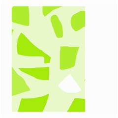 Green Abstract Design Small Garden Flag (two Sides) by Valentinaart
