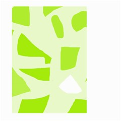 Green Abstract Design Large Garden Flag (two Sides) by Valentinaart