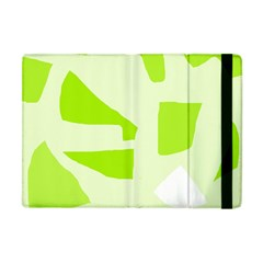 Green Abstract Design Apple Ipad Mini Flip Case by Valentinaart