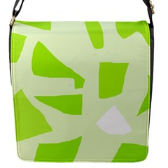 Green Abstract Design Flap Messenger Bag (s)