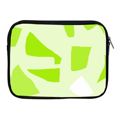 Green Abstract Design Apple Ipad 2/3/4 Zipper Cases by Valentinaart