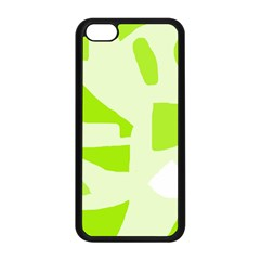 Green Abstract Design Apple Iphone 5c Seamless Case (black) by Valentinaart
