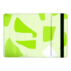 Green Abstract Design Samsung Galaxy Tab Pro 10 1  Flip Case by Valentinaart