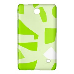 Green Abstract Design Samsung Galaxy Tab 4 (7 ) Hardshell Case  by Valentinaart