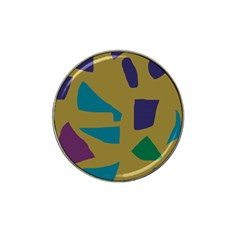 Colorful Abstraction Hat Clip Ball Marker by Valentinaart