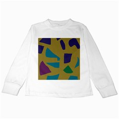 Colorful Abstraction Kids Long Sleeve T-shirts by Valentinaart