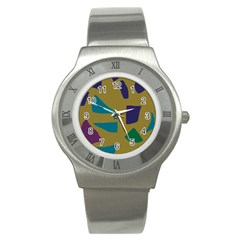 Colorful Abstraction Stainless Steel Watch by Valentinaart