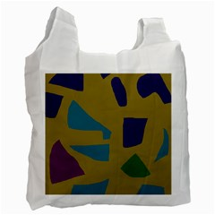 Colorful Abstraction Recycle Bag (one Side) by Valentinaart