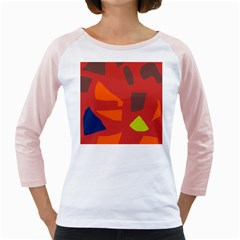 Red Abstraction Girly Raglans by Valentinaart
