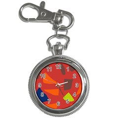 Red Abstraction Key Chain Watches by Valentinaart