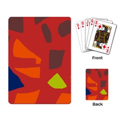 Red Abstraction Playing Card by Valentinaart