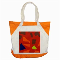 Red Abstraction Accent Tote Bag by Valentinaart