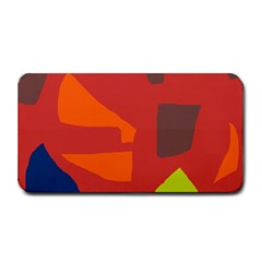 Red Abstraction Medium Bar Mats by Valentinaart
