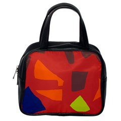 Red Abstraction Classic Handbags (one Side) by Valentinaart
