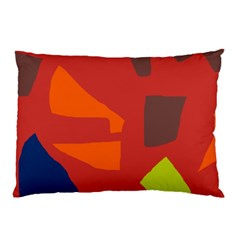 Red Abstraction Pillow Case by Valentinaart