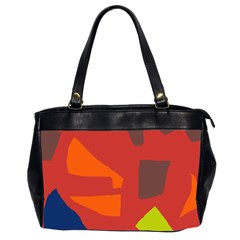 Red Abstraction Office Handbags (2 Sides)  by Valentinaart