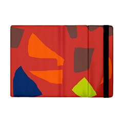 Red Abstraction Apple Ipad Mini Flip Case by Valentinaart