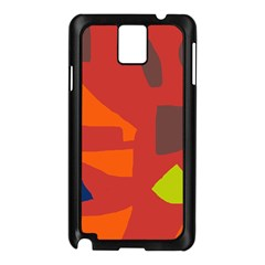 Red Abstraction Samsung Galaxy Note 3 N9005 Case (black) by Valentinaart