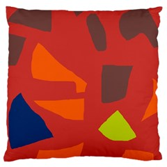 Red Abstraction Standard Flano Cushion Case (two Sides) by Valentinaart