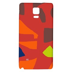 Red Abstraction Galaxy Note 4 Back Case by Valentinaart