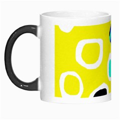Yellow Abstract Pattern Morph Mugs by Valentinaart