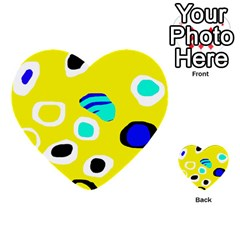 Yellow Abstract Pattern Multi Purpose Cards (heart)  by Valentinaart