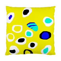 Yellow Abstract Pattern Standard Cushion Case (two Sides) by Valentinaart