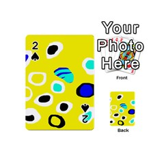 Yellow Abstract Pattern Playing Cards 54 (mini)  by Valentinaart
