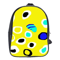 Yellow Abstract Pattern School Bags (xl)  by Valentinaart