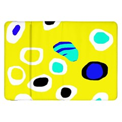 Yellow Abstract Pattern Samsung Galaxy Tab 8 9  P7300 Flip Case by Valentinaart