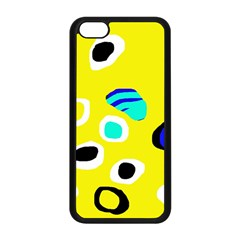 Yellow Abstract Pattern Apple Iphone 5c Seamless Case (black) by Valentinaart