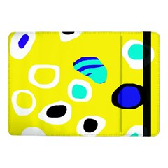 Yellow Abstract Pattern Samsung Galaxy Tab Pro 10 1  Flip Case by Valentinaart