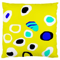 Yellow Abstract Pattern Standard Flano Cushion Case (one Side) by Valentinaart
