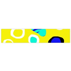 Yellow Abstract Pattern Flano Scarf (small) by Valentinaart