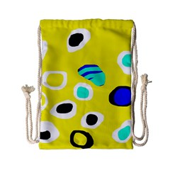 Yellow Abstract Pattern Drawstring Bag (small) by Valentinaart