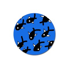 Cute Fishes Magnet 3  (round) by Valentinaart