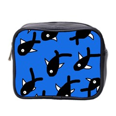 Cute Fishes Mini Toiletries Bag 2 Side by Valentinaart