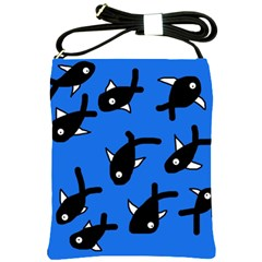 Cute Fishes Shoulder Sling Bags by Valentinaart
