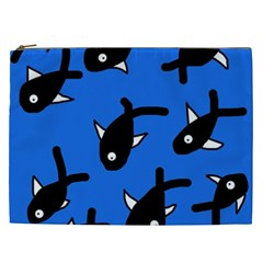 Cute Fishes Cosmetic Bag (xxl)  by Valentinaart